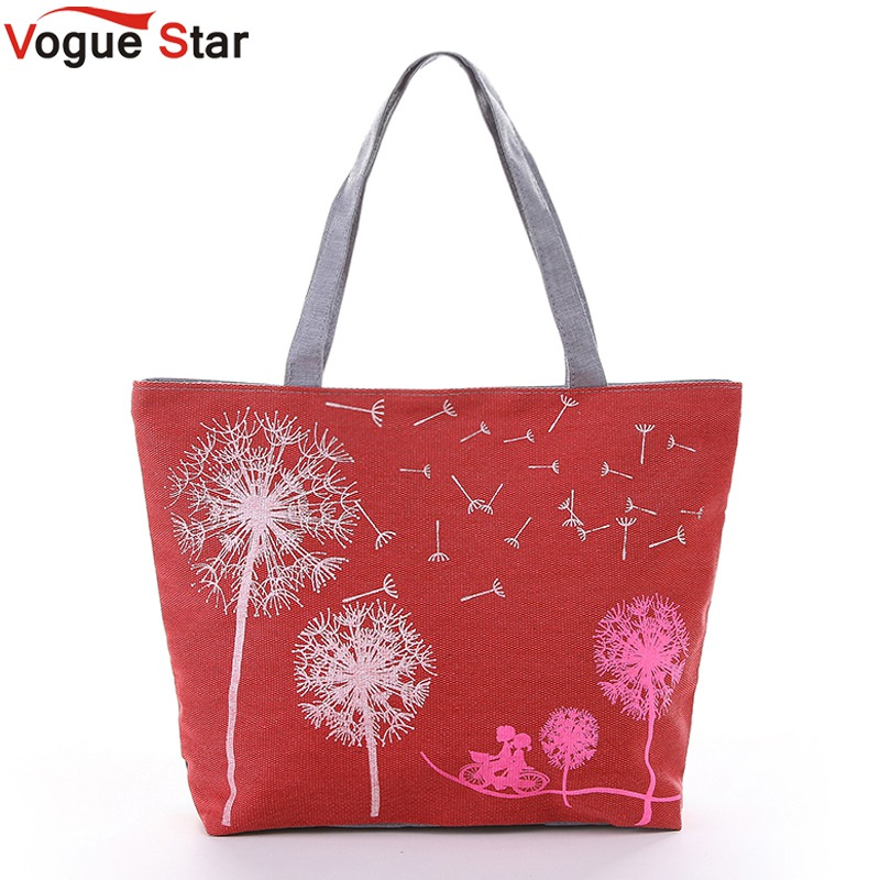 Vogue Star Sale New 2017 Fashion Dandelion Canvas Bag Flowers Women Handbag Shoulder Bags Women Messenger Bags Bolsas  YK40-789 vogue star brand women handbag for women bags leather handbags women s pouch bolsas shoulder bag female messenger bags yk40 78