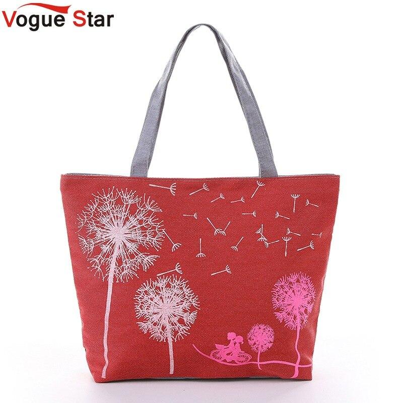 Vogue Star Sale New 2018 Fashion Dandelion Canvas Bag Flowers Women Handbag Shoulder Bags Women Messenger Bags Bolsas YK40-789