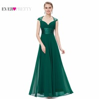 HE09672 V Neck White Sequins Chiffon Ruffles Empire Line Long Evening Dress