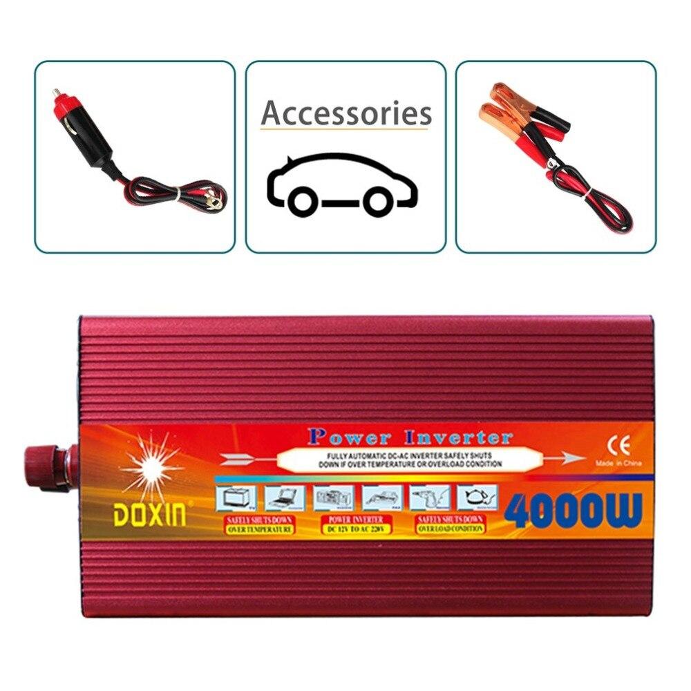 Doxin 4000 Вт автомобиля Мощность преобразователь DC 12 В Входная мощность Инвертор Портативный автомобиля Мощность адаптер для Пеший Туризм Пут