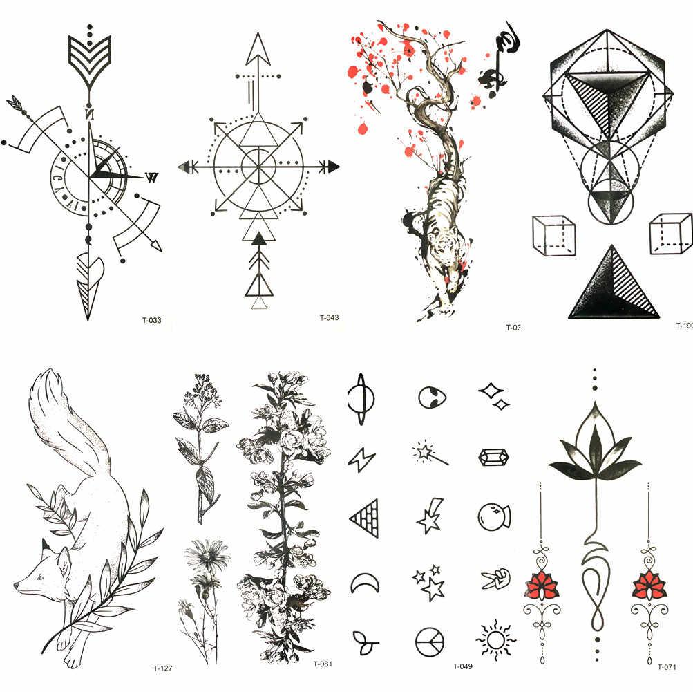 прекрасный черный компас стрелка временные татуировки красной сливы