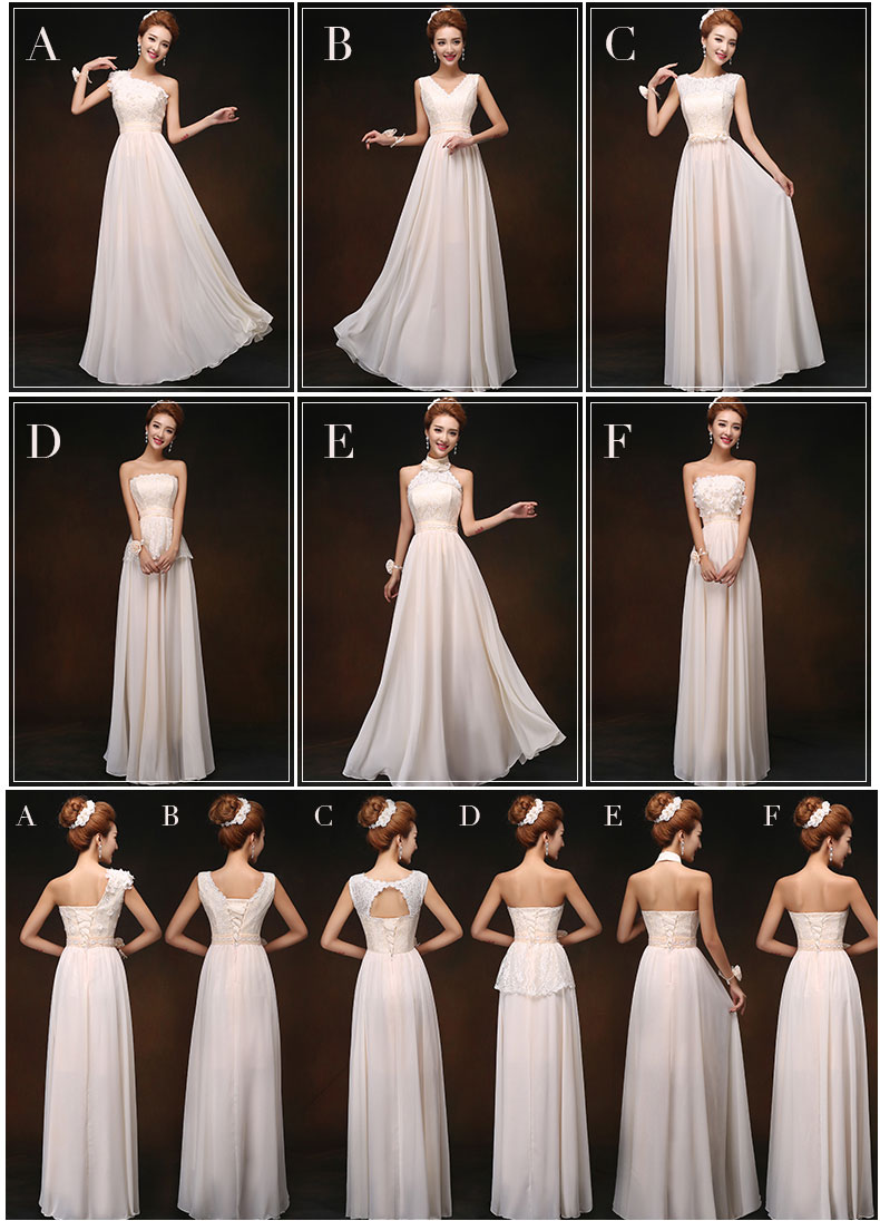 Bridesmaid dress 2017 Drnfow New Formal Long Lace A Line Sleeveless Empire  Party Prom Dresses Six style to choose S M L XL XXL-in Bridesmaid Dresses  from ... 100af2d86bb7