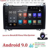 Car Multimedia Player 2 din Android 9.0 Stereo System For Mercedes/Benz/Sprinter/W169/B200/B class Car NODVD Radio GPS DSP FM/AM