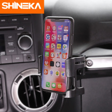 SHINEKA Car Phone Bracket for Jeep Wrangler JK 2012 2017 Drink Cup Phone Holder Bolt on Stand Organizer for Jeep Wrangler JK