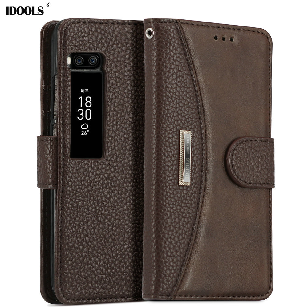 IDOOLS Case For Meizu Pro 7 C Vintage PU Leather Covers Wallet Mobile Phone Accessories Bags Cases for Meizu Pro 7 5.2""