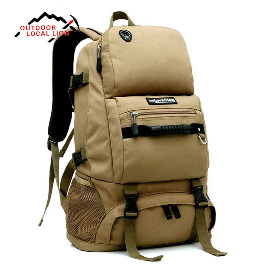 LOCAL LION 40L Men Women Outdoor Backpack Hiking Rucksack Waterproof Sport Bags Mountaineer Climbing Bag Camping Backpack-in Climbing Bags from Sports & Entertainment    2