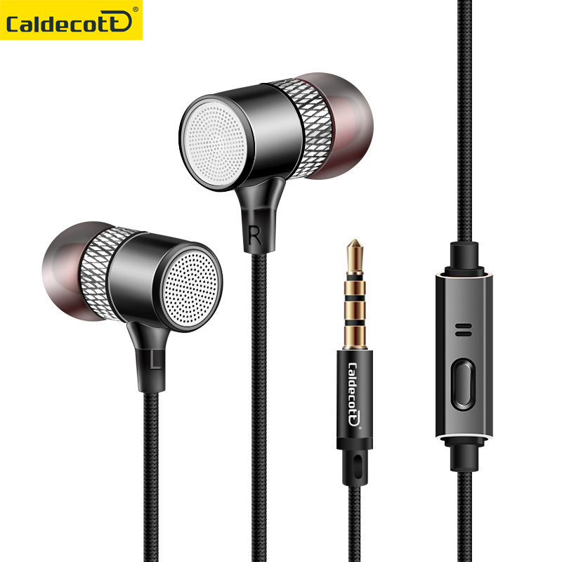 Magnetic 3.5MM Metal In-ear Wired Earphones HiFi Strong Bass Headphones With Microphone For Mobile Phone Headset