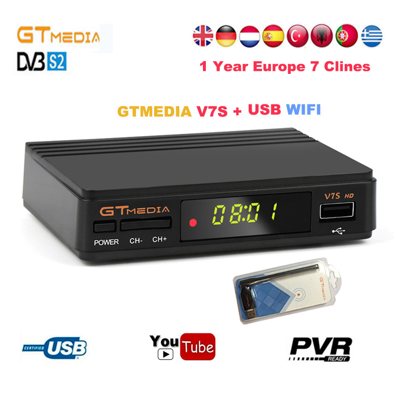 Gtmedia v7s hd Satellite font b Receiver b font dvb s2 FTA 1080P receptor Digital Satellite