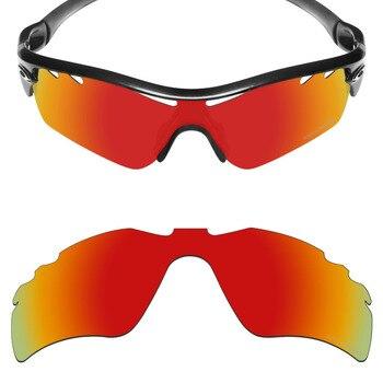 b0b4700279f0a Mryok + polarizadas resistir mar reemplazo Objetivos repuesto para Oakley  RADAR PATH vented Gafas de sol Fire red