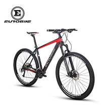 EUROBIKE Mountain Bike EURO29ER Toray 700 Carbon Fiber Frame 27 Speed Shimano M370 Gears 29 inches Wheels Dual Disc Bra