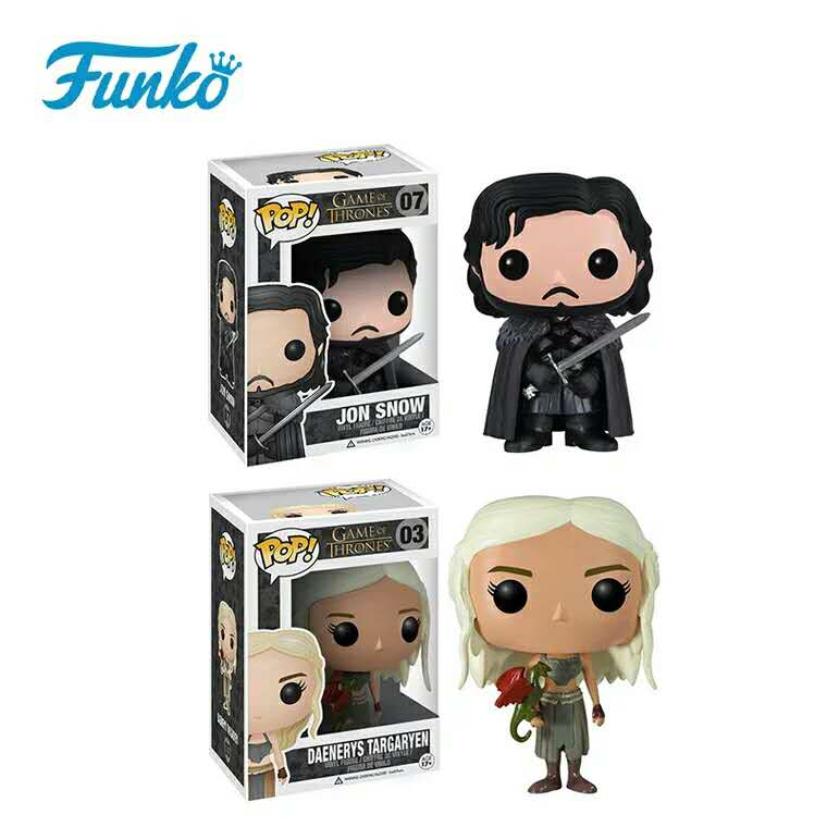 Official <font><b>Funko</b></font> <font><b>pop</b></font> TV: <font><b>Game</b></font> <font><b>of</b></font> <font><b>Thrones</b></font> - <font><b>Jon</b></font> <font><b>Snow</b></font>, Daenerys Targaryen Vinyl <font><b>Action</b></font> Figure Collectible Toy with Original Box