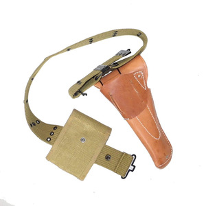 Image 2 - WWII WW2 US EQUIPMENT PISTOL BELT 1911 HOLSTER AND AMMO POUCH EQUIPMENT MILITARY SOLDIER COMBINATION