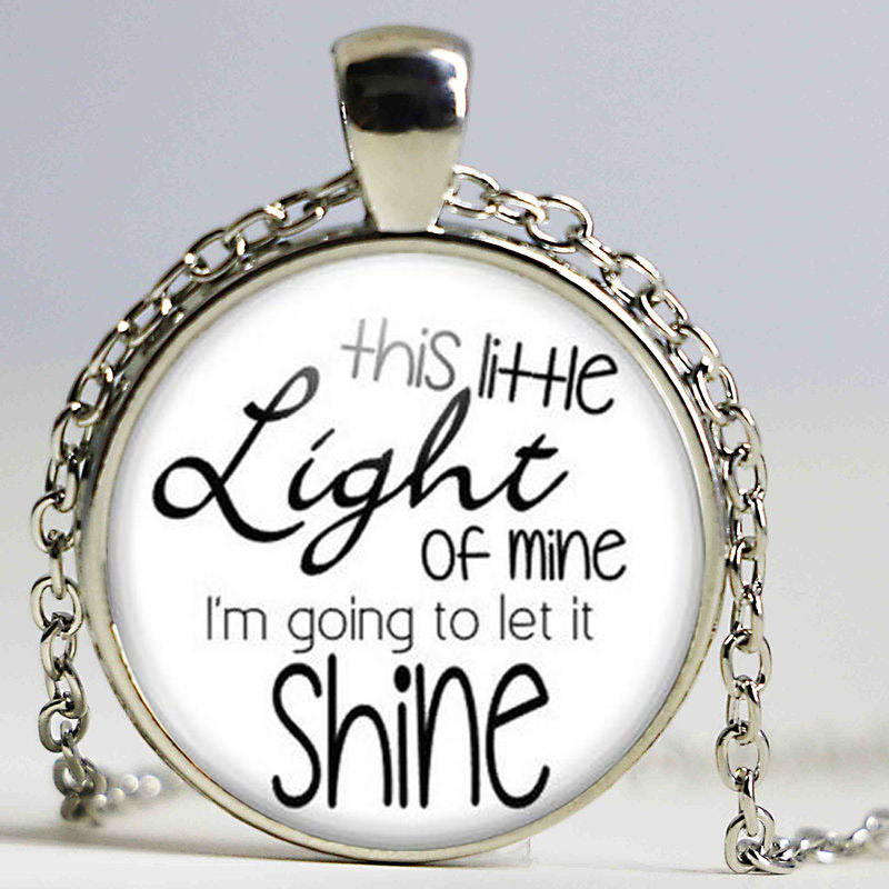 Этот маленький свет мой Цепочки и ожерелья христианские песни отпуск Библейская школа церкви друг подарки религиозных Для женщин Для мужчи...