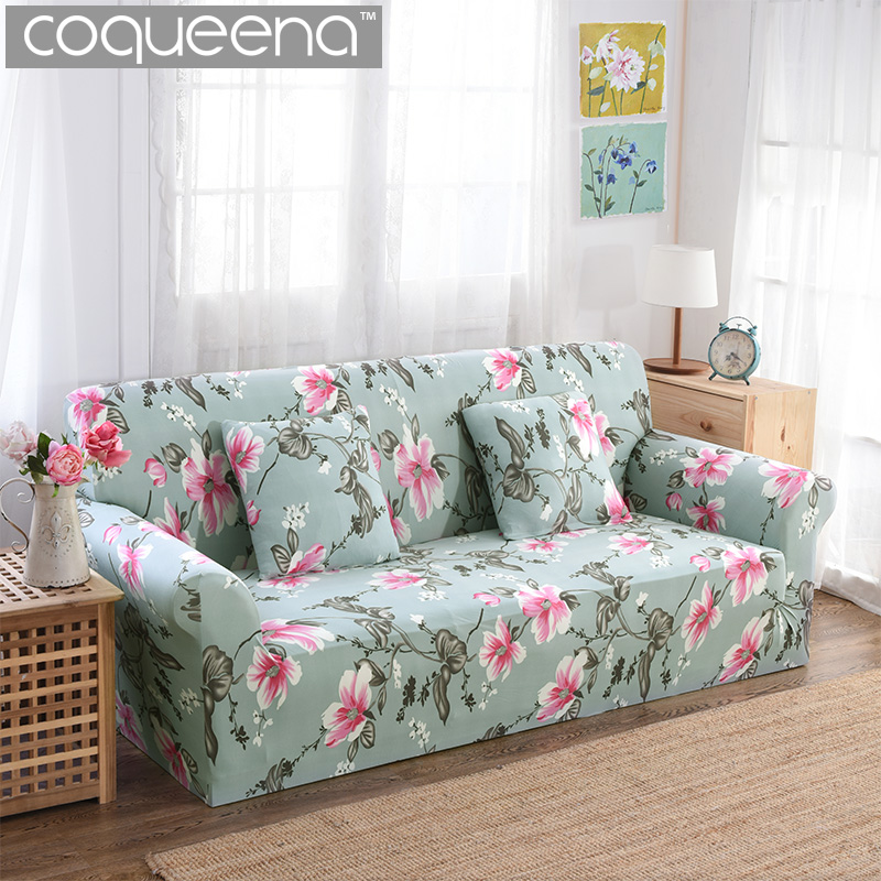 Brilliant Floral Pattern Stretch Sofa Cover Universal Couch Slipcovers Gmtry Best Dining Table And Chair Ideas Images Gmtryco