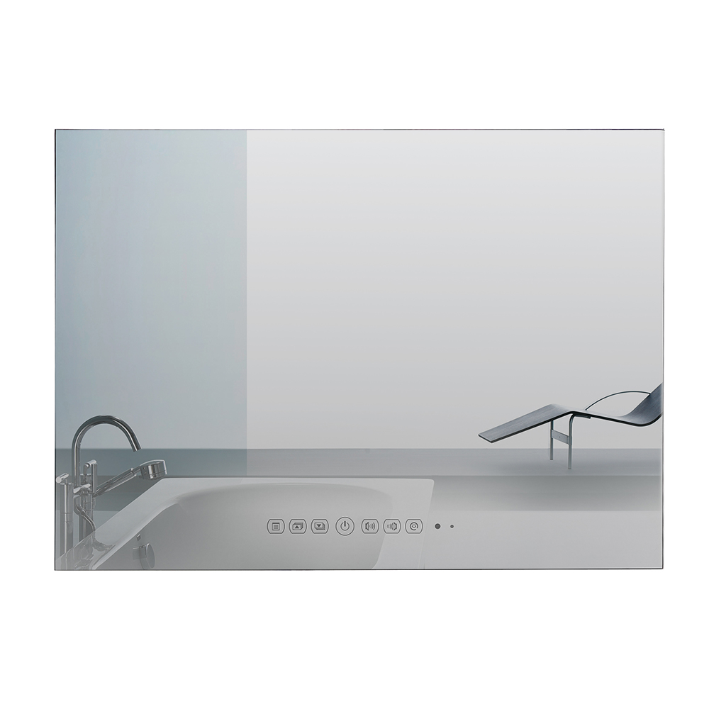 Souria 42 inch Wall Mounted Monitor Android Swimming Pool LED <font><b>TV</b></font> Shower Interior Water Proof Television (Black/Mirror) image