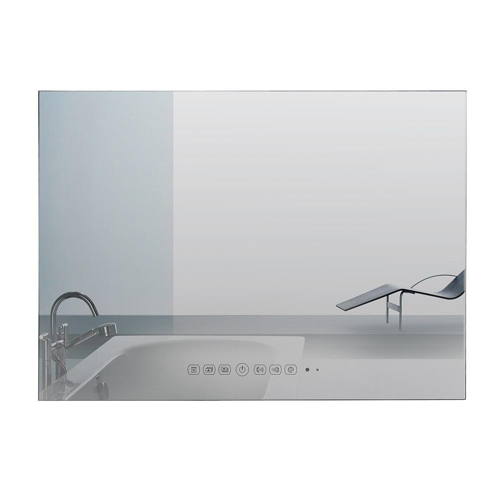Souria 42 pouces moniteur mural Android piscine LED TV douche intérieur étanche à l'eau télévision (noir/miroir)