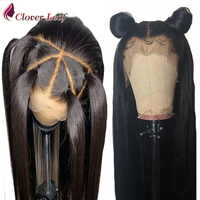 Straight Brazilian Human Wig For Black Woman 13X4 Pre Plucked Lace Front Human Hair Wigs With Lace Front Baby Hair Wig Remy Hair