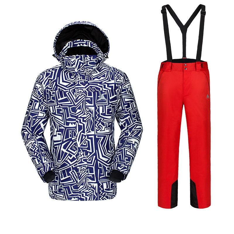 Новая мужская фанерная доска лыжный костюм, для спорта на открытом воздухе Лыжная одежда для альпинистов мужские лыжные штаны ветронепроницаемая Водонепроницаемая теплая одежда - Цвет: C6