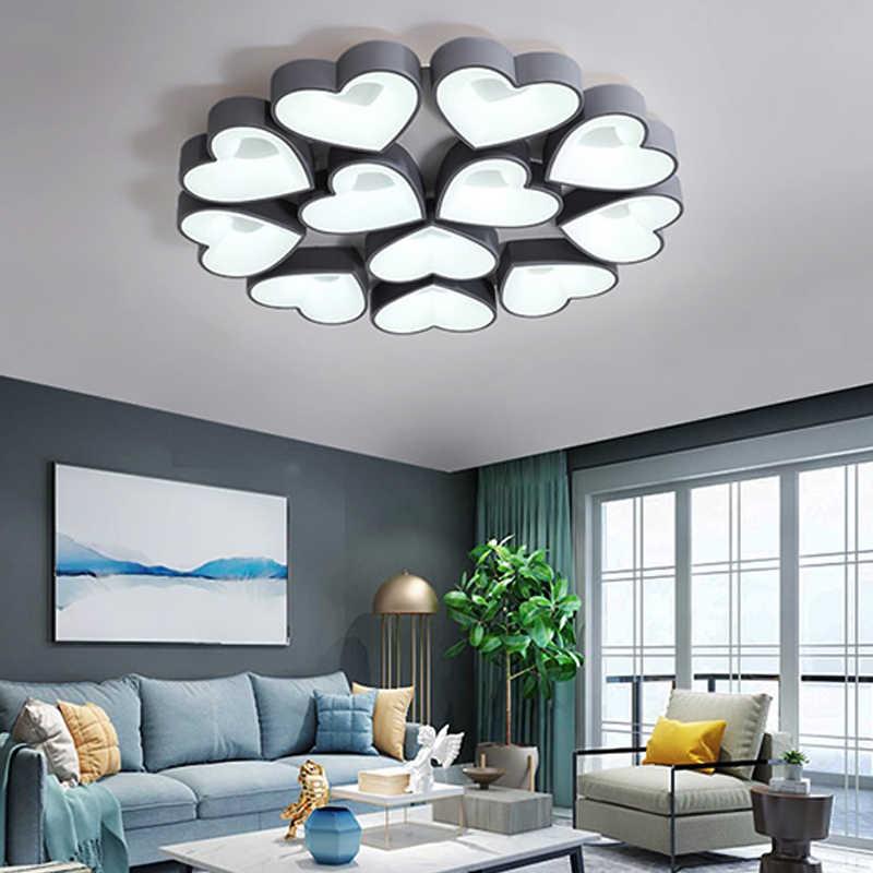 Светодиодный Потолочные светильники цветочный узор современные luminaria светодиодный teto потолочный светильник для помещений для гостиной Кухня домашнего освещения