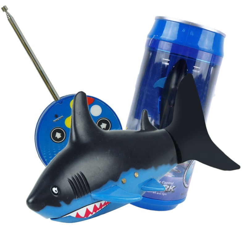 27/40Mhz Mini RC Shark 3CH RC Submarine With USB Remote Control Fish Boat toy for Children Gift