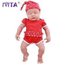 IVITA WG1510 47 см 3,67 кг закрытые глаза для девочек высокое качество полное тело силиконовые куклы Reborn Born Alive Brinquedos Реалистичная детская игрушка
