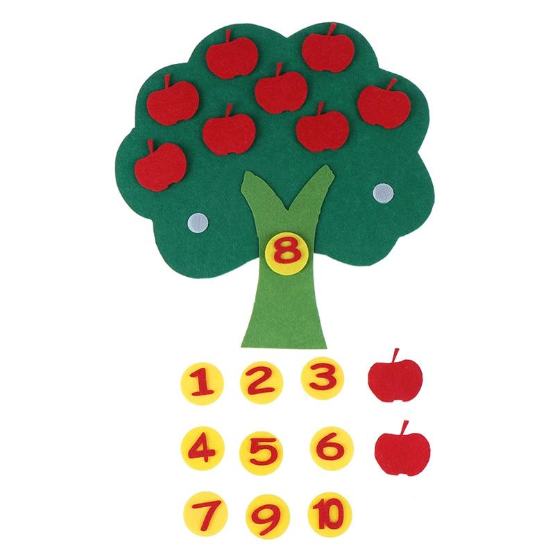 Montessori  Kindergarten Manual Teaching Aids Apple Trees Math Toys Teaching Diy Weave Cloth Early Learning Education Toys