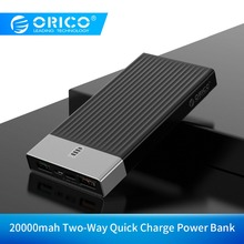ORICO 20000mAh Quick Charge3.0 External Battery 5V2A/9V2A 18W Max Power Bank Charge for Mobile Phone Tablet