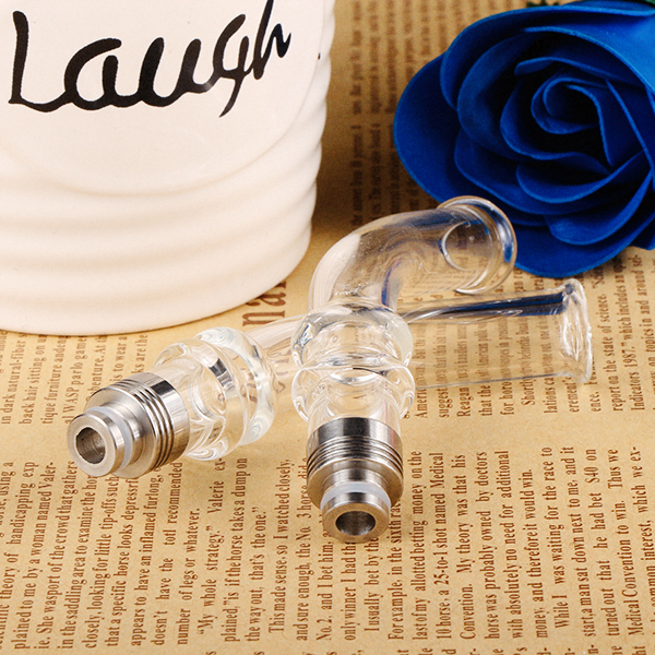 Sailing authentic 510 long Drip tip Pyrex Glass Stainless core Mouthpiece bend for electric cigarette vape best price