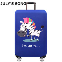 JULY'S SONG Elastic Luggage Protection Cover Trolley Dust Case Cover For 18-32 Inch Trunk Suitcase Case Travel Accessories july s song new suitcase elastic dust cover luggage case for 18 32 inch password box trolley case cat pattern protective cover
