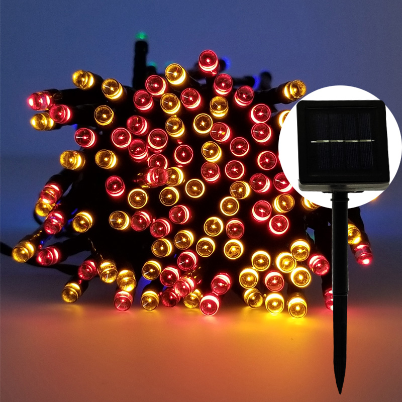 Decorative Solar Christmas Lights 50 /100 /200 LED Modes Fairy String Light for Outdoor  ...