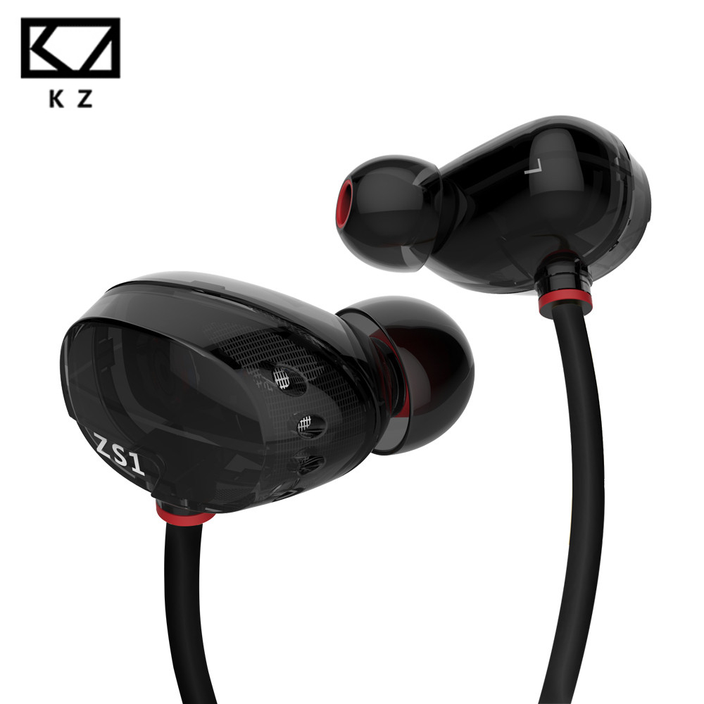 все цены на Original KZ-ZS1 Super Bass Noise Cancelling In-Ear Monitor Earphone Music Sound Professional Headset For Mobile Phone For ipod онлайн