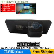 Водонепроницаемая камера заднего вида HD SONY камера для VW GOLF 4 5 6 MK4 MK5 EOS LUPO жук PASSAT фаэтон SCIROCCO превосходный