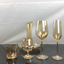 Europe crystal glass wine Golden Electroplating cup champagne glasses whiskey Brandy Cup Decanter home Drinkware