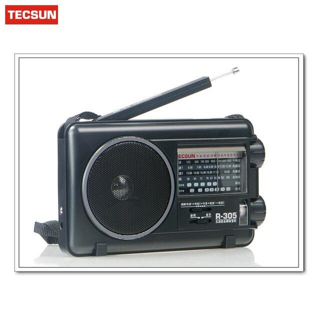 Original Tecsun R-305 R305 Full Band Radio Digital FM SW Stereo Radio Receiver Louderspeaker Music Player Portable Radio