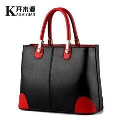 KLY 100% натуральная кожа Для женщин сумки 2018 новая сумка леди в Черный и белый цвета женские модные сумки плеча сумочку