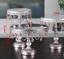 12 pulgadas soporte de La Torta/bandeja de vidrio tops de encaje transparente/placa de la fruta/de cristal estante postre/bandeja de pastelería/estante postre