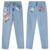 Plus Size Flor bordados jeans feminina 3XL 4XL Bolsos Luz azul calças capris casuais 2017 outono inverno em linha reta calças de brim das mulheres