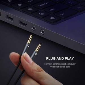 Image 5 - QGEEM Splitter Headphone for Computer 3.5mm Female to 2 Male 3.5mm Mic Audio Y Splitter Cable Headset to PC Adapter AUX  Cable