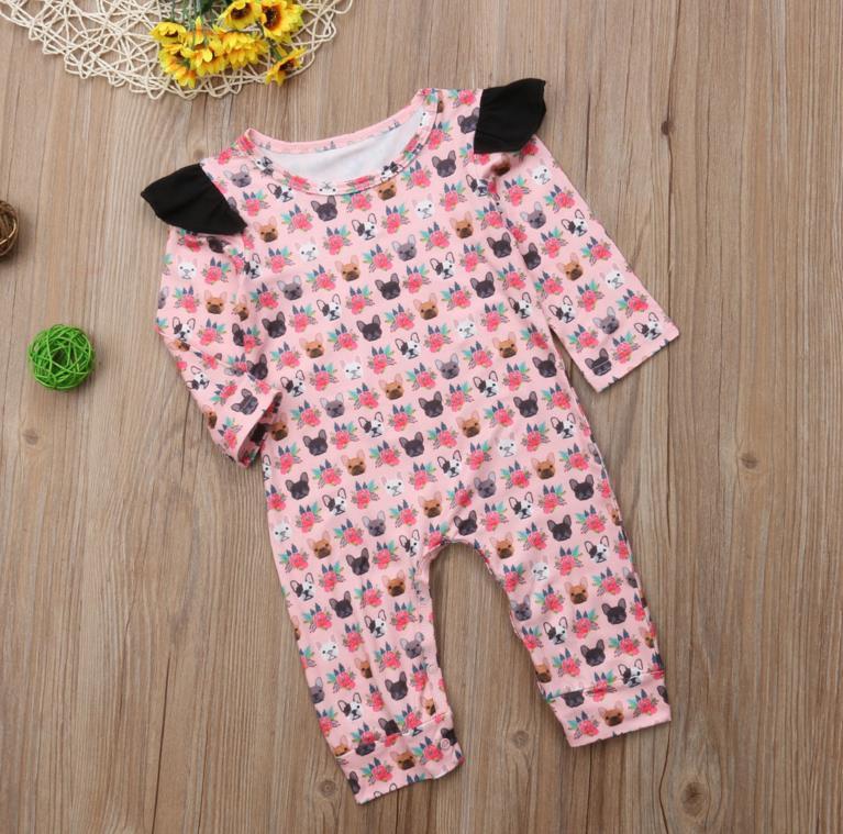 822466da78797 Pretty Newborn Toddler Baby Girl Clothing Romper Long Sleeve Cotton ...