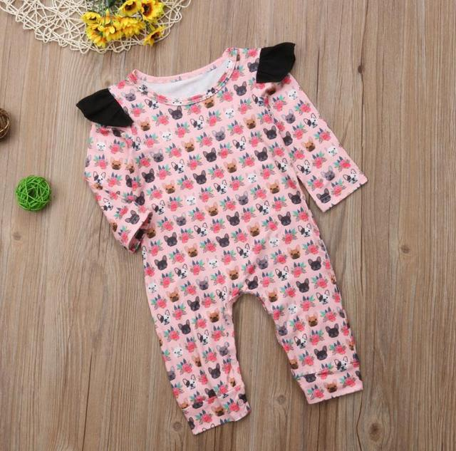 9617769c693a Pretty Newborn Toddler Baby Girl Clothing Romper Long Sleeve Cotton ...