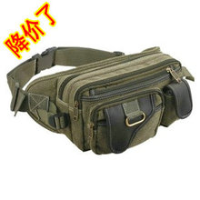 free shipping, 2013 canvas waist pack male casual shoulder bag fashion outside women's chest pack