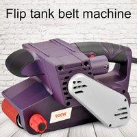 Electric Desktop Grinder Belt Sander Gift 6pcs Abrasive Belt Wood Sanding Belt Grinder Metal Polishing Machine Woodworking Tools