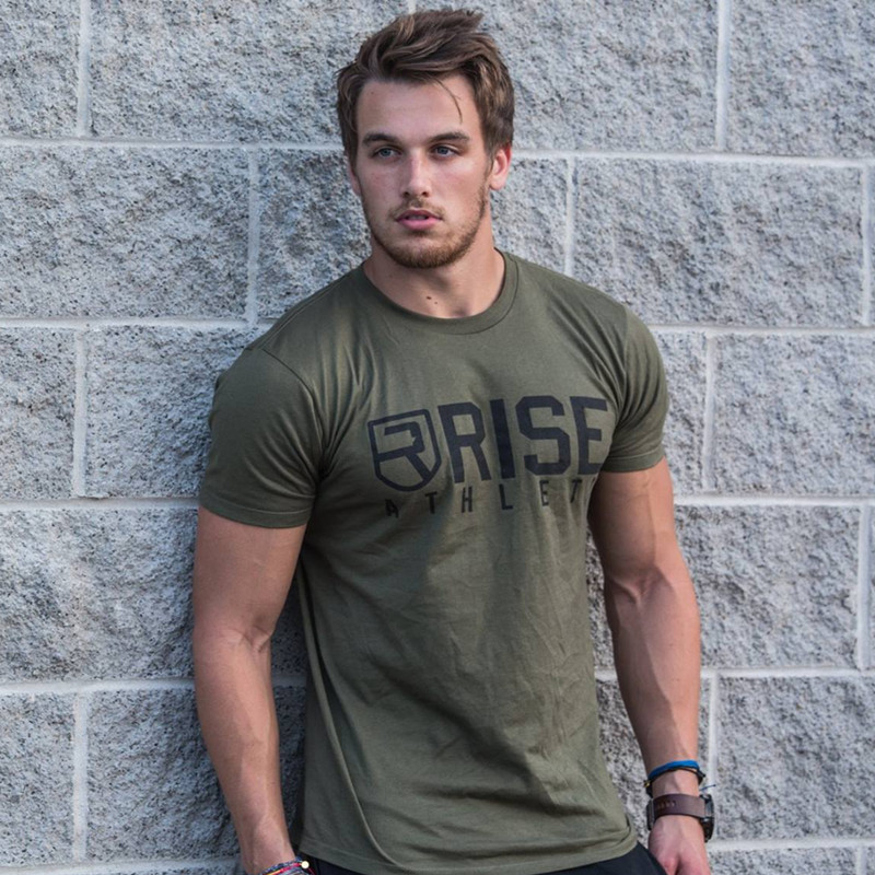 2018 Men Summer Fashion Leisure t Shirt Crossfit Fitness Bodybuilding Muscle male Short Slim fit Shirts Cotton Tee tops clothing