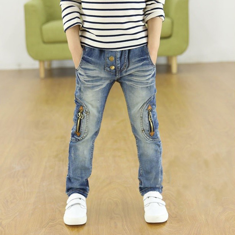 high-quality 2017 printemps et automne enfants pantalons Stretch joker jeans enfants jeans hot sale
