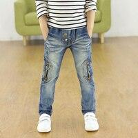 2017 Bambini dei jeans, ragazzi pantaloni adatti per la primavera/auyum neonati jeans dei ragazzi bambini pantaloni 3 4 5 6 7 8 9 10 11 12 13 14 anni