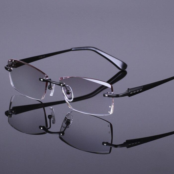 Brillen rahmen Diamant schneide highend mode titan spektakel brillen ...