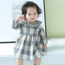 baby girl dress 2019 new spring style long-sleeve plaid princess dress children clothes kids dresses for girls 1 2 3 4 5 years недорого