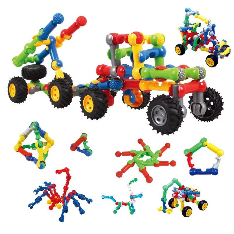 53pcs Construction Engineering Educational Building Blocks Learning Set For Boys & Girls Creative Games & Fun Activity Kids Toy