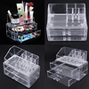 Excellent Cosmetic Organizer Two Layer Drawers Acrilico Desk Organizer Acrylic Makeup Organizer Storage Box Rangement Maquillage