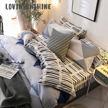 LOVINSUNSHINE King Duvet Cover Bed Sheets And Pillowcase Geometric Pattern Queen Size Comforter Sets AB#84
